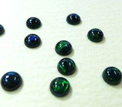 画像1: ラウンド(円形)オパール(3mm)グリーン