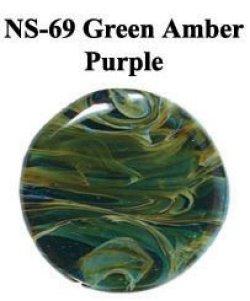 画像1: NS   Green Amber Purple Frit (グリーン・アンバー・パープル フリット)